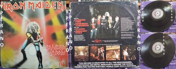 IRON MAIDEN Maiden Japan E.P 12 ... UK EMI 5219 Paul Di'Anno SIGNED autographed (6)