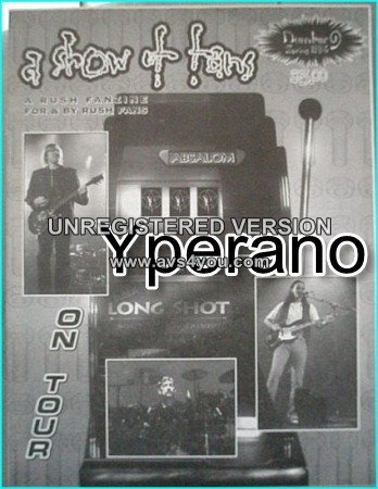 RUSH: A show of fans Number 9. RUSH FANZINE: Issue 9. 1994. Rare.