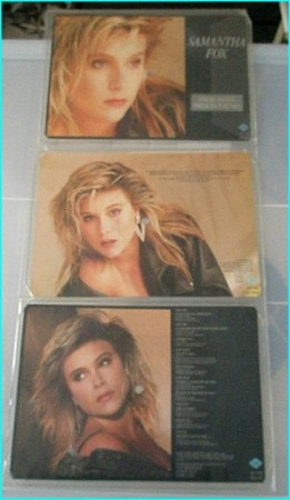 Samantha Fox: Samantha Fox LP. Super Rare 3 part Special Edition Picture discs 3 rectangular picture discs.