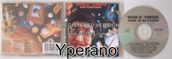 WEIRD AL YANKOVIC: Dare To Be Stupid CD Check videos