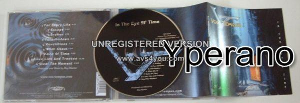 VOX TEMPUS: In The Eye Of Time CD (Original copy) prog rock / hard rock / A.O.R. Strong vocals + Gregg Bissonette (drums)