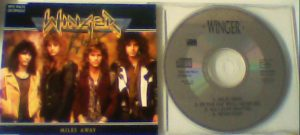WINGER: Miles Away CD. Number 1 hit in USA. Mega Ballad. Check video. SIGNED Autographed