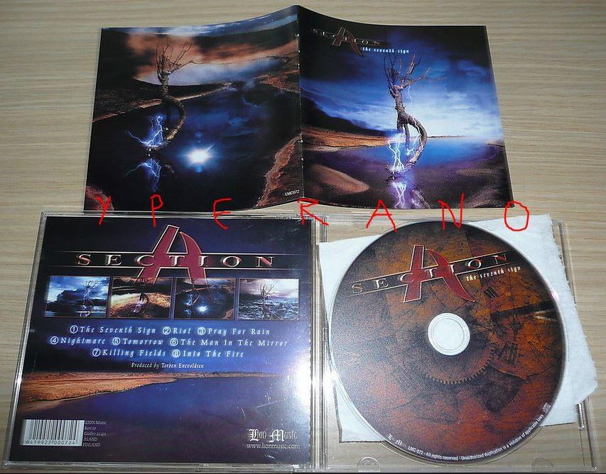 SECTION A: The Seventh Sign CD Progressive metal Lions Share, Vanden Plas members + Derek Sherinian.