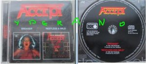 ACCEPT: Breaker / Restless And Wild CD (2 albums in one disc) official compilation