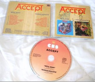 ACCEPT: Metal Heart - Russian roulette CD, (2 albums in one disc) official compilation Russia CDM 598-101