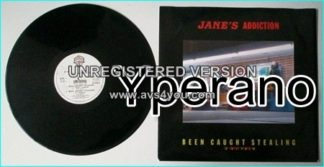 """JANES ADDICTION: Been Caught Stealing 12"""" E.P (6 songs + unreleased medley w. covers by the Doors, The Germs, X) Check VIDEO"""