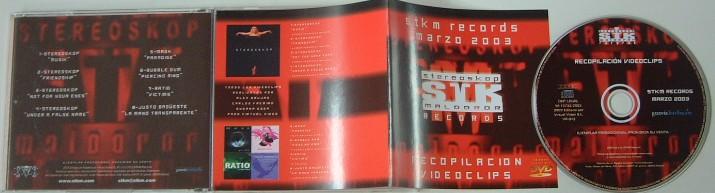 STKM Records Marzo 2003 recopilacion videoclips- VIDEO compilation w. Stereoskop (4 clips) + Mask, Bubble Gum, Ratio, Justo