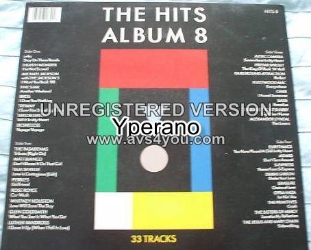 Various: THE HITS ALBUM 8 EIGHT [DOUBLE gatefold] LP 1988. Pop, Rock, Soft Rock, Europop, Pop Rock, Arena Rock. Check VIDEOS