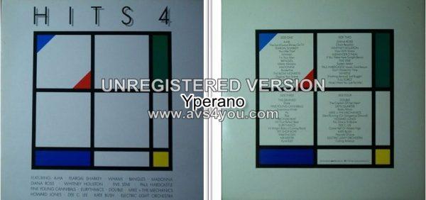 VARIOUS: Hits 4 (Double, gatefold WEA compilation 1986 signed, autographed) LP Pop, Rock, Pop Rock, Synth-pop bands. VIDEOS