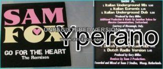 "Samantha Fox (Sam Fox): Go for the heart the remixes 12"". Girlschool guitarist participating tooCheck videos."