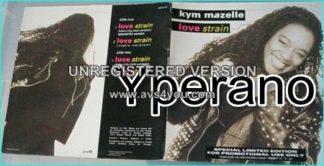 """Kym Mazelle: love strain 12"""" gatefold special promotional use only vinyl. 12"""" Advance Copy For DJs Only ."""
