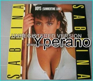 "SABRINA: Boys (Summertime Love) 12"" Scarce 1987 UK 3-track. Check killer video"