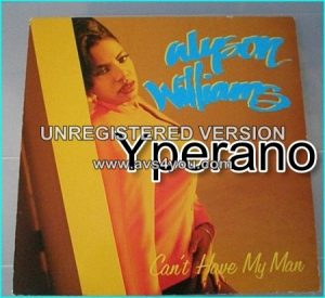 "Alyson Williams: cant have my man 12"" underrated singer, such a powerhouse. Check video"