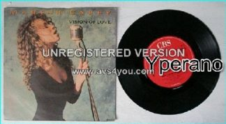 """Mariah CAREY: Vision Of Love 7"""" (Her first big hit. Excellent A.O.R ballad). Check videos"""