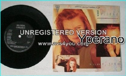 "Belinda CARLISLE: Vision of you + Leave a light on (Kamikazee re mix) 7"". Check videos"