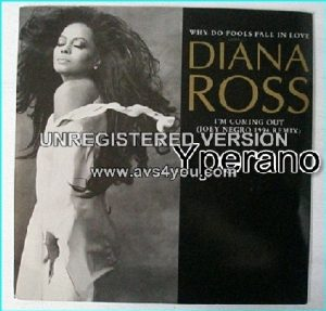 """Diana ROSS: Why do fools fall in love + Im coming out [Joey Negro re-mix] 7"""" rare 1994. check video"""