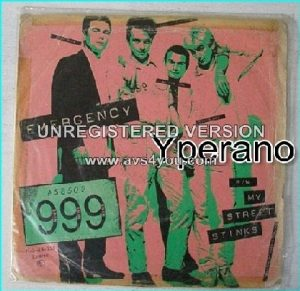 "999: Emergency 7"" + My street stinks [Punk legends. '78 single]. SUPER RARE (Portugal) Check video"