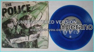 The POLICE: Message In A Bottle + Landlord (unreleased) Blue vinyl [AnM AMS 7474 (Sept 79) Check video
