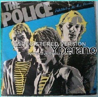 The POLICE: Walking On The Moon + Visions of The Night (unreleased) (Nov 79) Alternate Sleeve