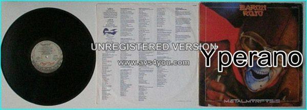 BARON ROJO: Metalmorfosis LP Original 1983 Spanish. Very N.W.O.B.H.M sounding. Check video