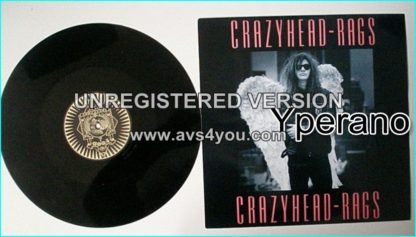 "CRAZYHEAD: Rags (Extended) 1988 UK 3-track 12"" Sleazy hard rock, a bit punk-ish. Check video"