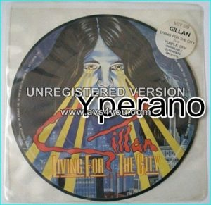 "GILLAN: Living for the city 7"" (Stevie Wonder cover) + Breaking Chains. PICTURE DISC. Check video"