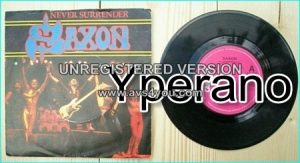 "SAXON: Never Surrender 7"" + 20000 FT(Remix). Check videos."