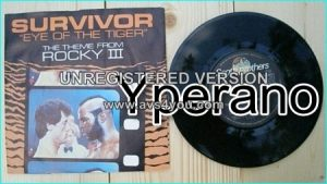 "SURVIVOR: Eye of the tiger 7"" + Take you on a Saturday [worldwide number 1 hit single] Check video"