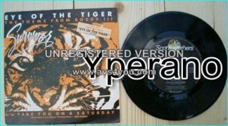 "SURVIVOR: Eye of the tiger 7"" + Take you on a Saturday [worldwide number 1 hit single. Tiger cover artwork] Check video"