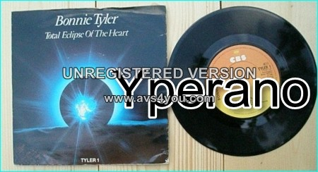 """Bonnie TYLER: Total Eclipse of the Heart 7"""" + Take me back. Check video"""