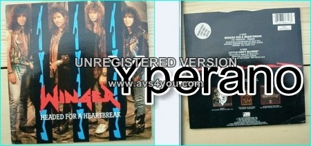"WINGER: Headed for A Heartbreak 7"" Promo SIGNED / Autographed. Mega Ballad, classic. Check video."