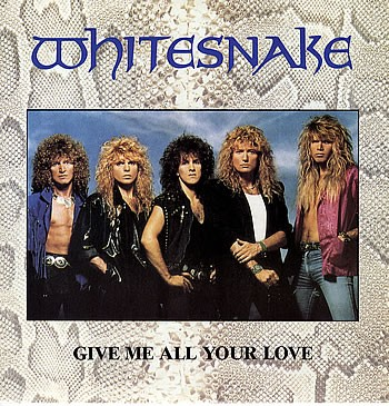 """WHITESNAKE: Give Me All Your Love 12"""" + Fool for you loving + Dont Break My Heart Again. Glossy picture sleeve. Check video"""