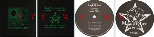 "The Sisters of Mercy: Temple of love 12"" (hard sleeve cover) vinyl (+ Rolling Stones cover). Mint condition. Check videos"