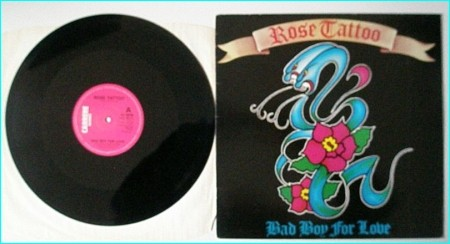 """ROSE TATTOO: Bad Boy For Love 12"""" Check video"""