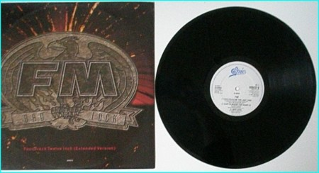 "FM: Bad Luck 12"" This Could Be The Last Time/Hurt Is Where The Heart Is/ Bad Luck (7"" version) Check video"