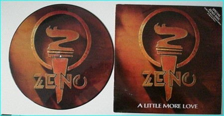 ZENO: A Little More Love PICTURE DISC Zen Roth on guitars brother of Uli Roth (ex Scorpions). Check VIDEO