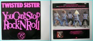 "TWISTED SISTER: You Cant Stop Rock N Roll 12"" ( 3 unreleased, unavailable elsewhere songs) VIDEO."
