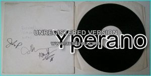 EXCITER: Violence n Force LP SUPER RARE signed white label Test pressing MFN LP. Signed, autographed by all