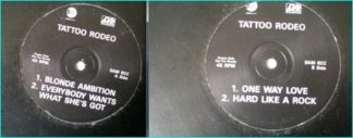 TATTOO RODEO: 4 song PROMO ATLANTIC RECORDS. Check audio sample.