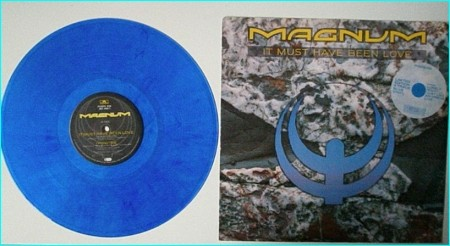 MAGNUM: It Must Have Been Love. 4 song 12 BLUE VINYL PS POSXB 930 UK. check VIDEO