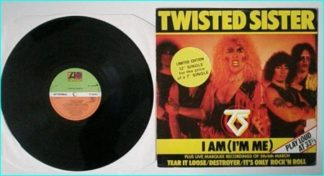 "TWISTED SISTER: I am (Im Me) 12"" Check live video."