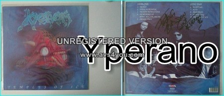 VENOM: Temples of Ice SIGNED / autographed LP