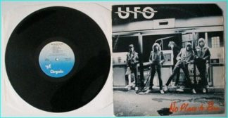 UFO: No place to Run LP (black white background tint) Check audio video samples