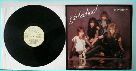 GIRLSCHOOL: Play dirty SIGNED / autographed LP Check videos