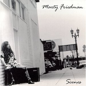 Marty FRIEDMAN: Scenes CD lead guitarist of Megadeth. Megadeths drummer Nick Menza in all 8 songs. 1992 CD. Check samples