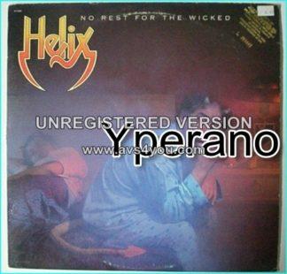 HELIX: No Rest For The Wicked LP Promo. Mega Hard Rock Metal. U.K PROMO 1983 LP. Check videos