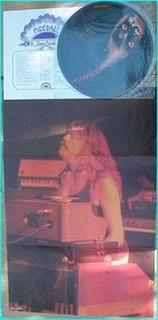 DEEP PURPLE: Fireball LP. PICTURE DISC. Huge Jon Lord poster + Double sided lyric sheet