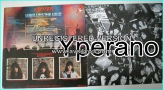 EXCITER: Long Live the Loud LP signed, autographed. Check samples