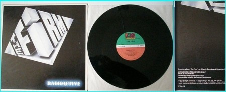 """The FIRM: Radioactive 12"""" Rare promo. Led Zeppelin guitarist Jimmy Page, Paul Rodgers, Tony Franklin, Chris slade. Check video"""