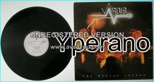 VARDIS:The Worlds Insane LP classic N.W.O.B.H.M (includes Silver Machine, HAWKWIND cover) check audio sample